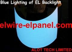 EL冷光源藍色背光 藍色冷光片 柔性背光燈
