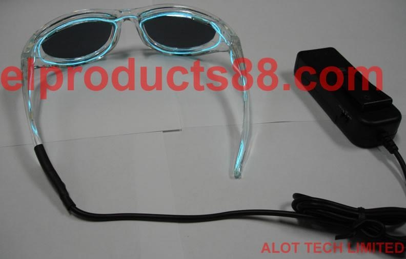 Green Color EL Lighting Sunglasses