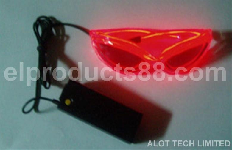 Hot red EL twinkling sunglasses