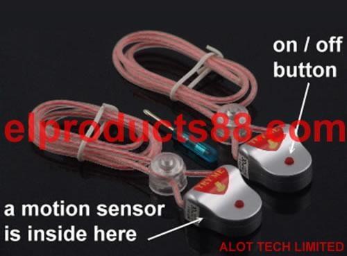 EL Shoelaces Stage Light EL Wire Vibration Sense 3