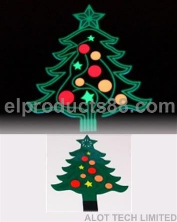 Christmas Tree EL Blinking Vehicle Signs