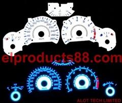 EL冷光片汽車儀表盤 發光片 EL冷光片背光