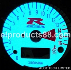 EL Glowing Car Gauge EL Cold Light Auto Dashboard EL Panel