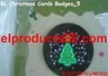 EL Flashing Christmas Card Badges EL Glow New Year Greeting Cards