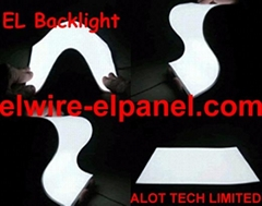 EL Backlight  EL Panel Soft and Cuttable for backlighting