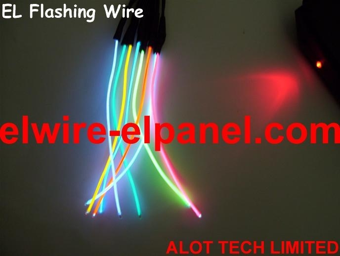 A Bunch of EL Wire Top Quality 0.9mm