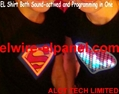 NEW EL Lighting Shirt Both Sound-actived and Programming EL Shirt