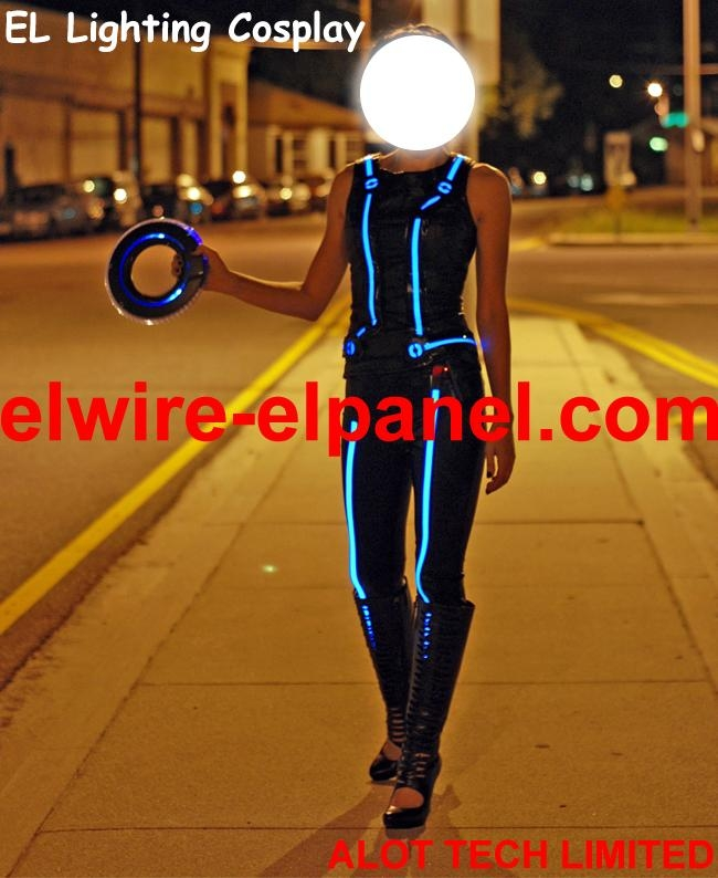 Hot EL Wire Cosplay Show Light Up Costume Play Stage Light - HNR ...