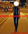 Hot EL Wire Cosplay Show Light Up Costume Play Stage Light