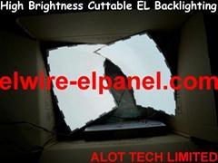 EL冷光片 任意裁剪EL冷光片背光源 發光片 背光燈 幕牆背景燈