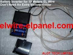EL发光线演出服专用15米驱动器 4节7号电池 无外接电池盒