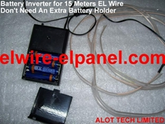 EL Wire Inverter for Costumes 15M No Extra Battery Holder