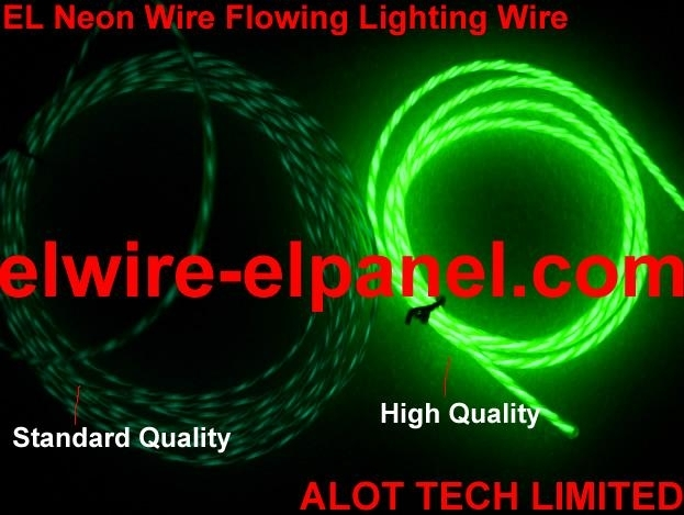 Chasing EL Wire Under the Fluorescent Lamp