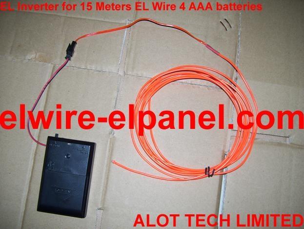 EL发光线演出服专用15米驱动器 4节7号电池 无外接电池盒 3