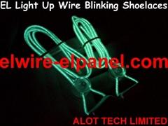 EL Wire Shoelaces Flashing Shoelaces The Light Run Shoelaces