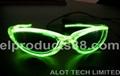 EL Light Up Flashing Sunglasses EL Wire Glow Sunglasses