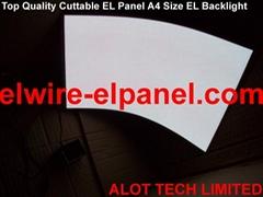 EL冷光片 任意裁剪背光源 可打孔 鑽洞 A4粉底白光