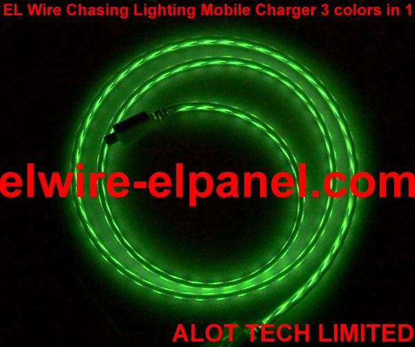 EL Wire USB Mobile Charge 3 Colors in one Top Quality 2