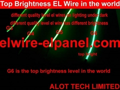 EL Wire TOP Quality TOP Bright Dazzling Light Flashing Costumes Car Decoration