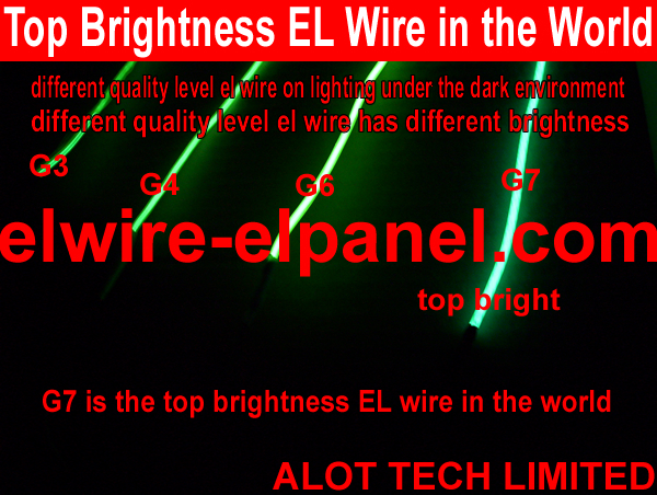 Top brightness EL wire  costumes stage light