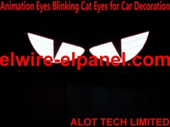 閃光眼睛汽車裝飾燈 內飾挂件 動感發光貓眼 夜視貓眼
