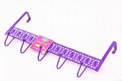 廠家直銷風格款 鏤空花紋免釘無痕門后挂鉤 彩色花紋挂衣鉤多用途