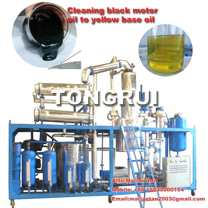 Used oil Distillation, vacuum distillation,used oil regeneration refine used oil to clean base oil