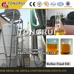 DDR plastic tire used engine oil to diesel oil distillation Machine
