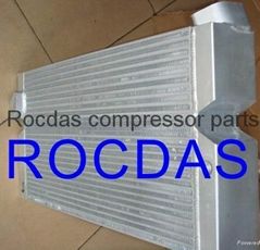 Air compressor heat exchangers