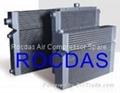 Air compressor heat exchangers