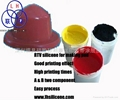 Pad printing silicone rubber with high