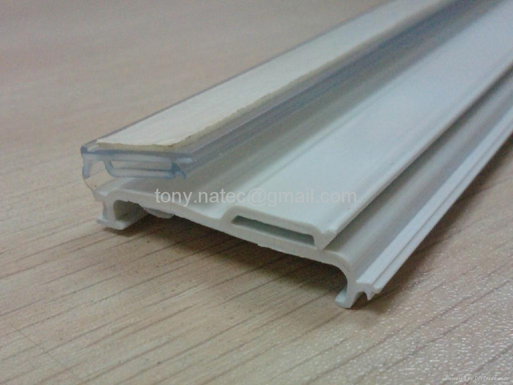 price strip for shelves extrusion rail pvc price holder pvc profiles sbds210 natec china. Black Bedroom Furniture Sets. Home Design Ideas