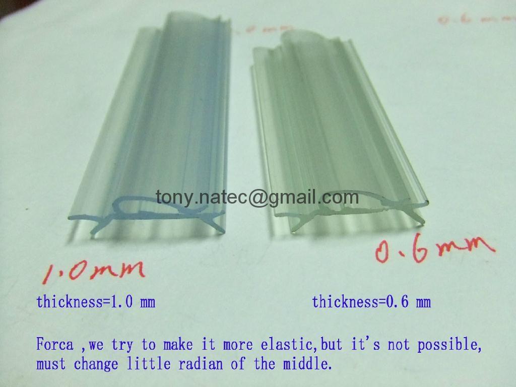 PVC雙色共擠,PVC卡軌,PVC異型材,PVC標牌條 1