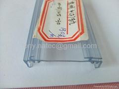 PVC co-extrusion profiles,PVC rail, price strip for she  es,PVC price holder