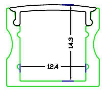 SLIM LINE 15mm profile,led strip profile,Surface mounted linear LED profile 1