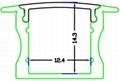 recessed 15mm LED Strip Profile,LED