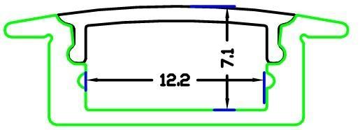 linear led profiles,RECESSED 7 LED Strip Profile,Aluminium Led Strike Profiles 1