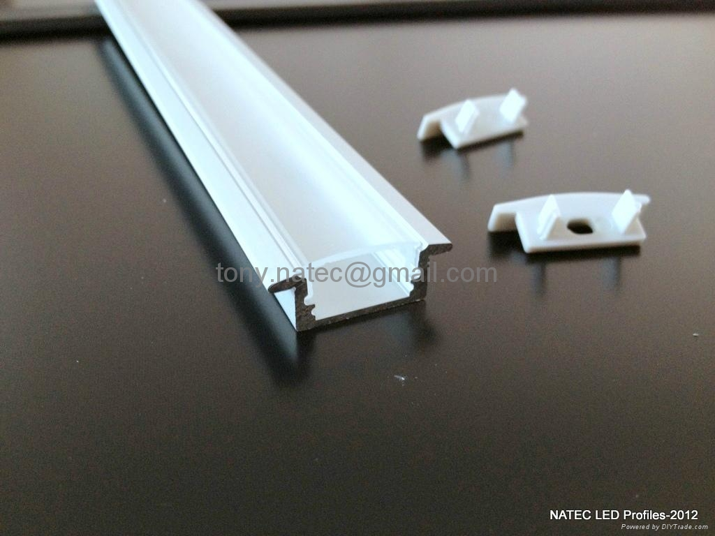 linear led profiles recessed 7 led strip profile aluminium. Black Bedroom Furniture Sets. Home Design Ideas