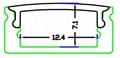 Slim Line 8mm Profile,Aluminum Led