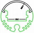 led cloth rod profile,LED Wardrobe profile,closet rod extrusion aluminum