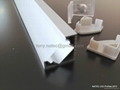 ALUMINIUM LED PROFILE FOR LED STRIPS - 45° - 2M