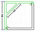 LED corner profiles,Aluminum LED strip