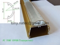 PC clear cover with line, PC transparent cover,pc extrusion profiles