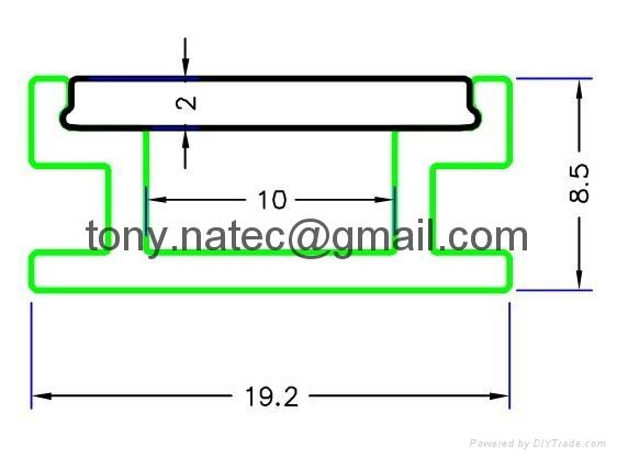 LED ground profile ,Floor led profile, led track profile,ALU profile