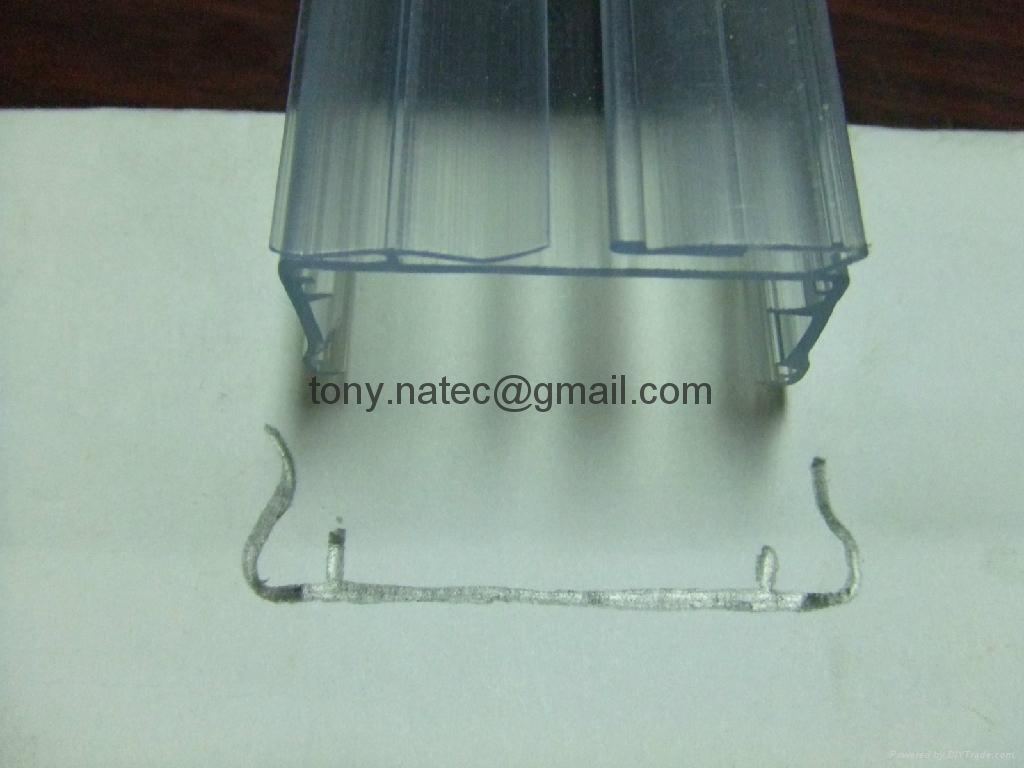 PVC透明標價條,PVC異型材,PVC超市標價條
