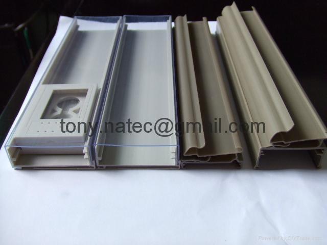 PVC挤塑加工,PVC挤塑异型材,PVC超市标签条 4