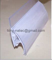 price strip for shelves,pvc strip holder,ticket holder,label holder,price tag