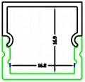 LED Aluminium Profile for ceiling ,aluminum led light profile
