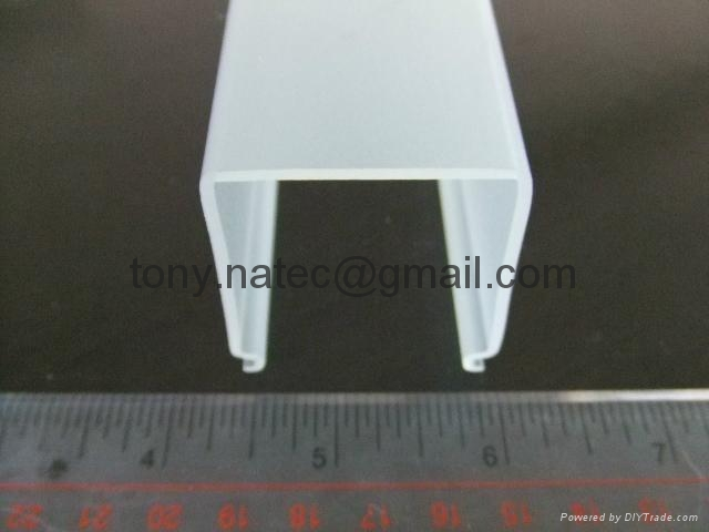 Frosted PMMA extrusion Profiles,LED light diffuser,PMMA diffuser ,PMMA profiles 1