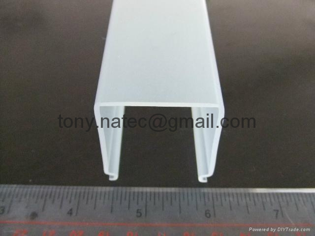 Frosted PMMA extrusion Profiles,LED light diffuser,PMMA diffuser ,PMMA profiles 3
